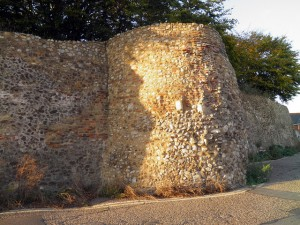 Wall Bastion in Priory Street