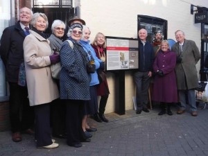 Unveiling the board at Scheregate